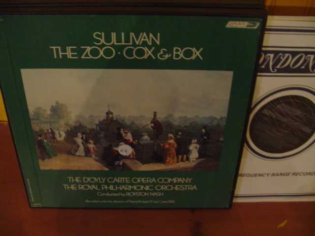 SULLIVAN - THE ZOO ; COX & BOX - NASH London Set