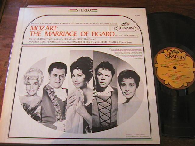 MOZART - MARRIAGE FIGARO - SUITNER - SERAPHIM - R 79