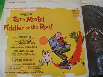 FIDDLER ON THE ROOF - ZERO MOSTEL - RCA { 367