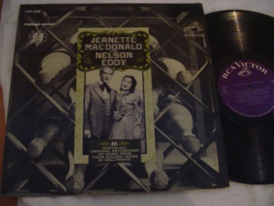 JEANETTE McDONALD & NELSON EDDY - GOLDEN YEARS - RCA { 300