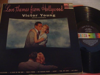 VICTOR YOUNG - LOVE THEMES HOLLYWOOD - DECCA { 322