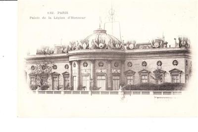 PARIS - PALAIS DE LA d' HONNEUR - UNUSED # 132