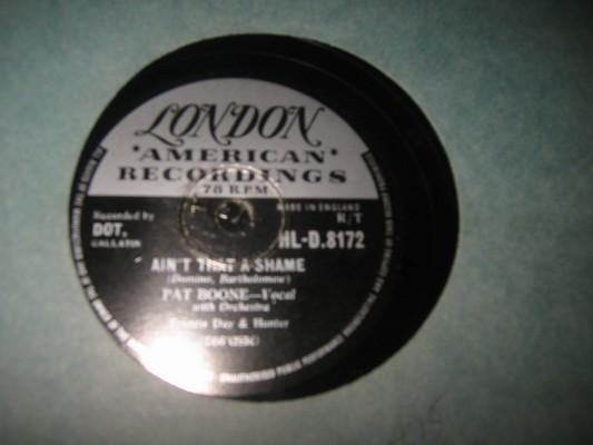 PAT BOONE - AINT THAT SHAME - LONDON - RARE 78 RPM