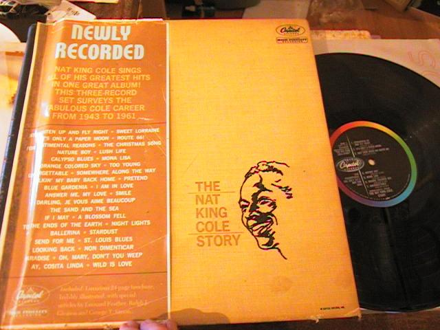 NAT KING COLE - THE STORY - 4 LP SET CAPITOL { PM 196