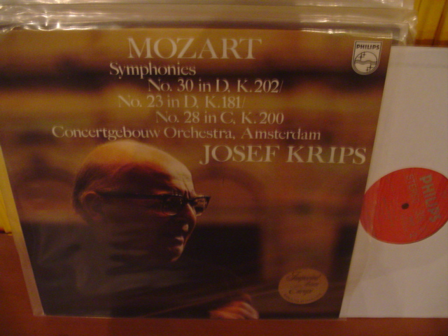 PHILIPS - MOZART - SYMPH No 30 , 23 , & 28 - KRIPS