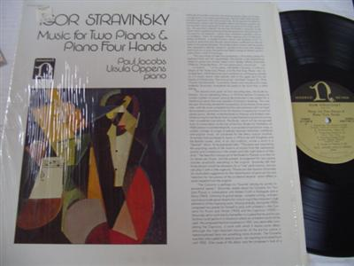 PAUL JACOBS & OPPENS - STRAVINSKY - NONESUCH { P 207