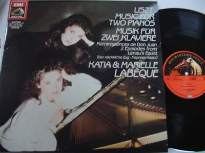 KATIA & MARIELLE LABEQUE - LISZT TWO PIANOS - EMI { P 251
