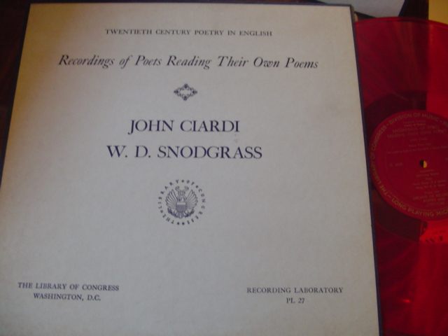 POETRY - JOHN CIARDI , W D SNODGRASS - LIBRARY CONGRESS [ 37