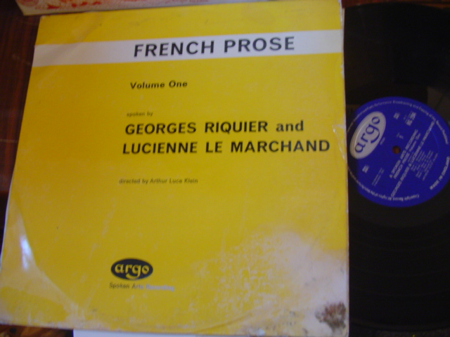 FRENCH PROSE - RIQUIER LE MARCHAND - ARGO [ 50