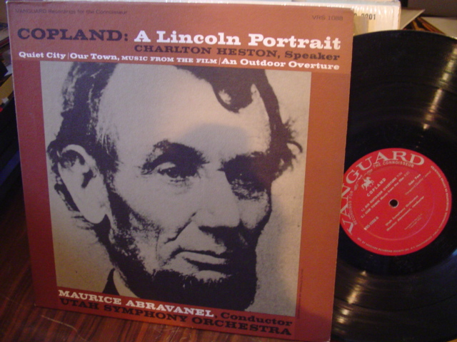 COPLAND - A LINCOLN PROTRAIT - CHARLTON HESTON - VANGUARD [ 61