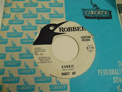 MARCY JOE - RONNIE - ROBBEE RECORDS - PROMO