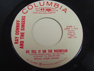 RAY CONNIFF - GO TELL IT TO MOUNTAINS - COLUMBIA PROMO P 81