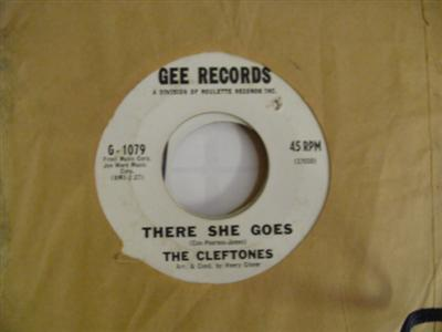 THE CLEFTONES - THERE SHE GOES - GEE PROMO P 106