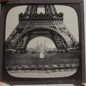 Paris Exposition 1889 Glass Slides Set of 7 - - Excellent Condit