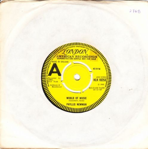 Phyllis Newman - World of Music - London Demo 2768