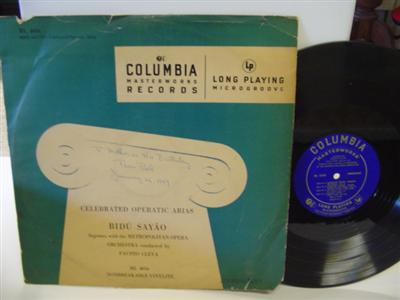 BIDU SAYAO - CELEBRATED ARIAS - COLUMBIA { R 233