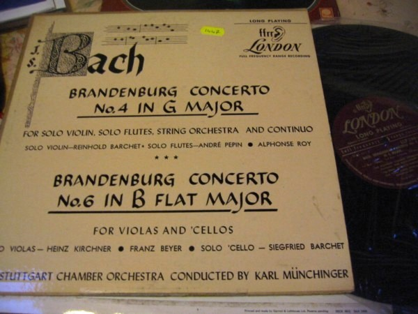 BACH - BRANDENBURG 4 & 6 - BARCHET - MUNCHINGER - LONDON