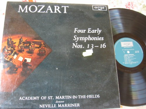 MOZART - EARLY SYMPH 13-16 - MARRINER - ARGO { R 1782