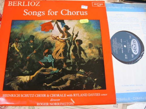 BERLIOZ - SONGS FOR CHORUS - NORRINGTON ARGO { R 1788
