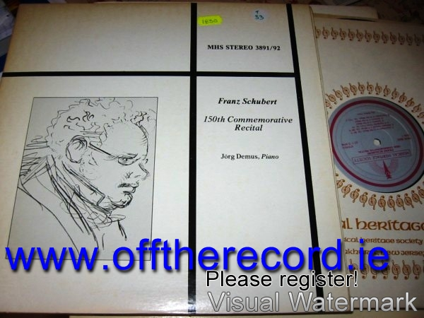JORG DEMUS - SCHUBERT PIANO RECITAL - MHS 2LP { 1830