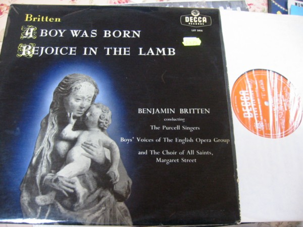 BOYS CHOIR - BRITTEN A BOY WAS BORN - DECCA LXT