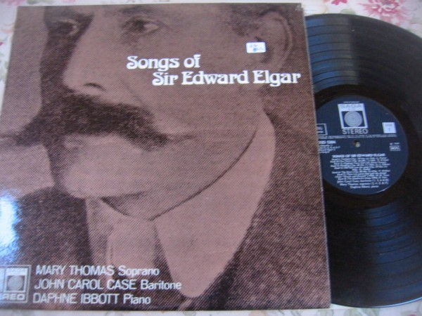 MARY THOMAS & JOHN CAROL CASE - ELGAR SONGS - SAGA { R 294