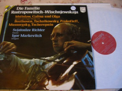 ROSTROPOVICH VISHNEVSKAYA FAMILY - PHILIPS 2LP { 903