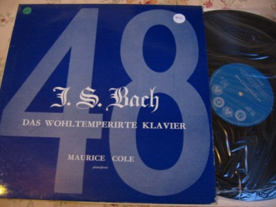 MAURICE COLE - BACH - WELL TEMPERED CLAVIER - SAGA { 906