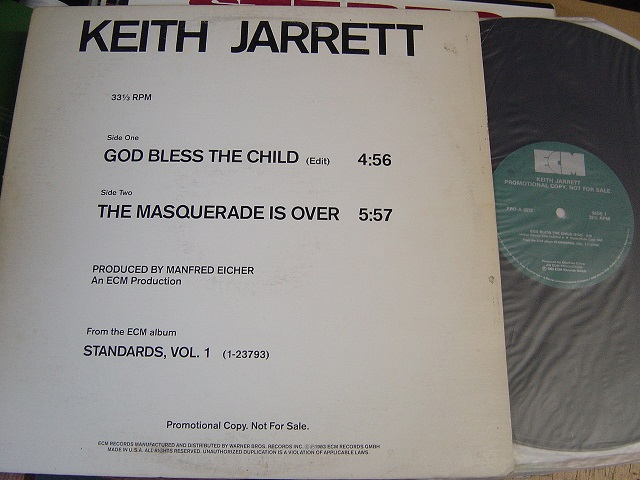 Keith Jarrett - God Bless the Child - ECM Promo 12Inch