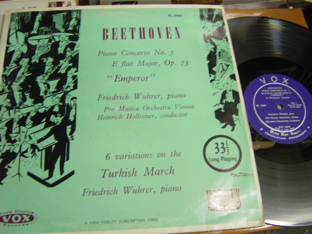 Frederich Wuhrer - Beethoven Emperor Piano - Vox PL9490