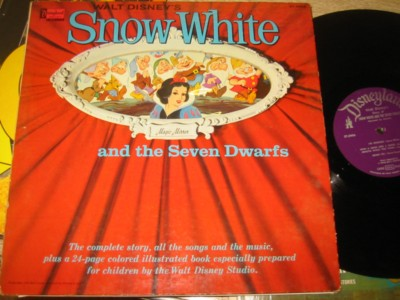 SNOW WHITE 7 DWARFS - DISNEYLAND RECORDS { 1267
