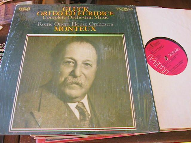 GLUCK - ORFEO ED EURRICE - MONTEUX - RCA
