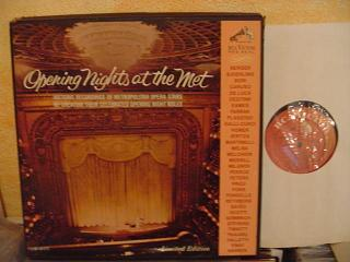 VARIOUS - OPENING NIGHTS AT MET 2 - RCA LM 6171