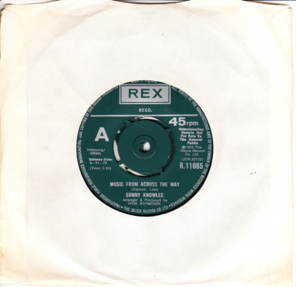 REX R.11085 - Sonny Knowles - Music from across the way - Demo