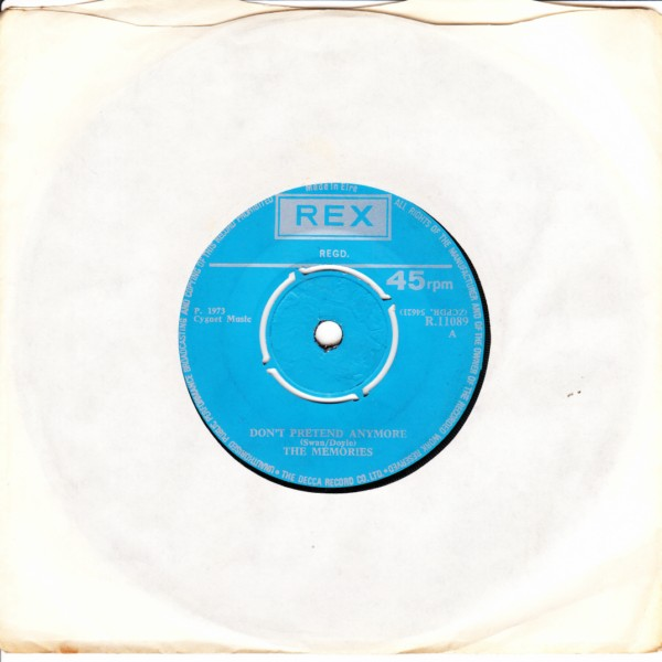 REX R.11089 - The Memories - Dont pretend anymore 1973