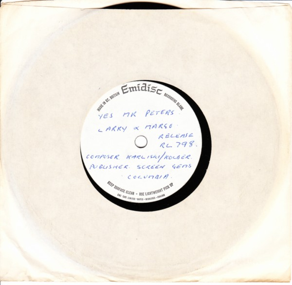RL 0798 - Larry Cunningham & Margo - Acetate - 1975
