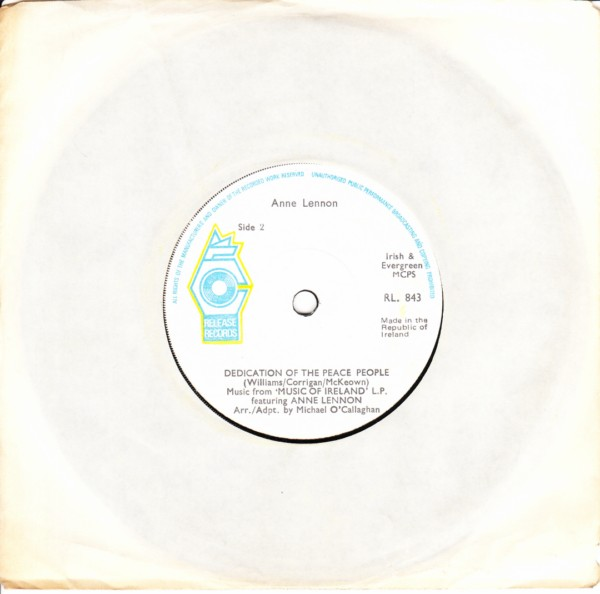 RL 0843 - ANNE LENNON - LET THERE BE PEACE - RELEASE