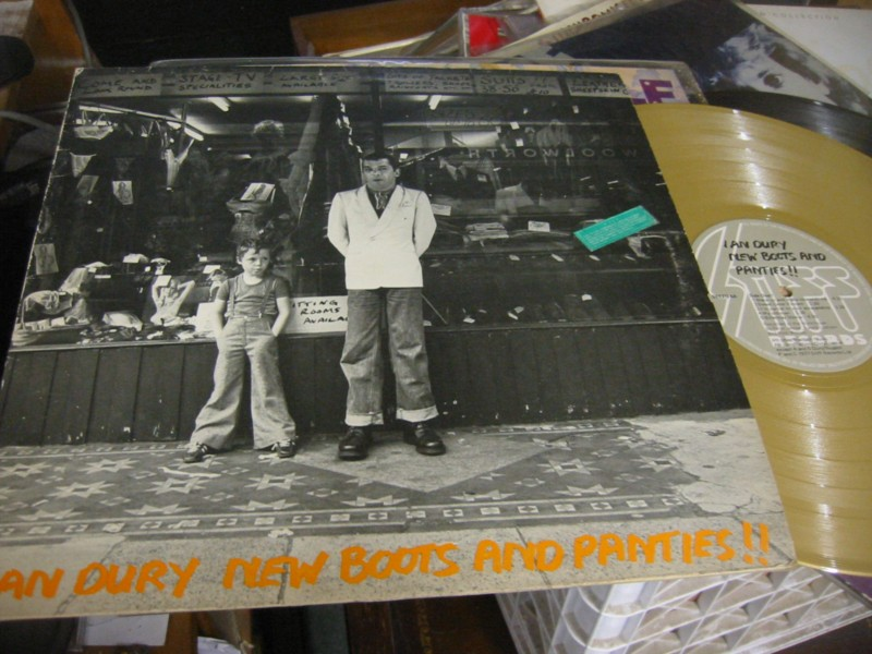 IAN DURY - NEW BOOTS & PANTIES GOLD - STIFF 1977