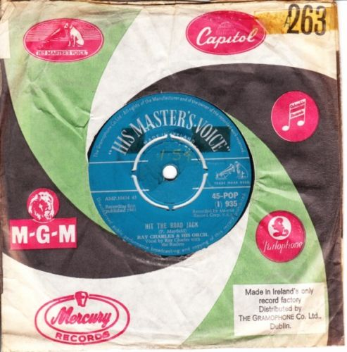 Ray Charles - Hit The Road Jack - HMV IRISH 3073