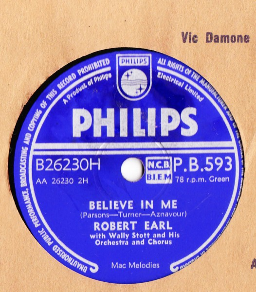 Robert Earl - If you can Dream - Philips UK Stunning