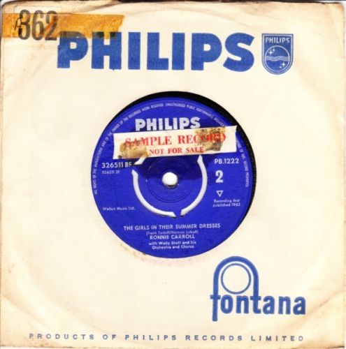 Ronnie Carroll - Ring a Ding Girl - Philips UK 3630