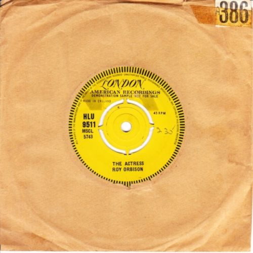 Roy Orbison - Dream Baby / The Actress - London Demo 3690