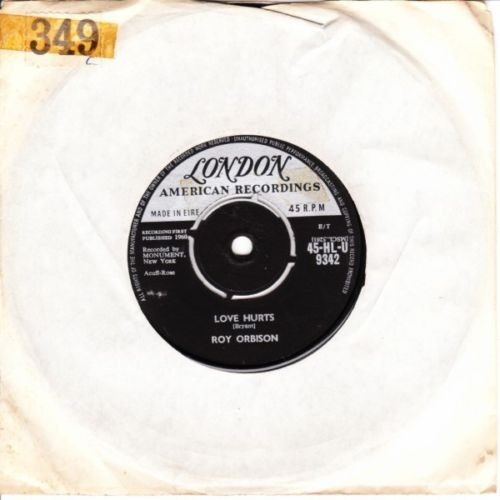 Roy Orbison - Love Hurts - London Irish 3694