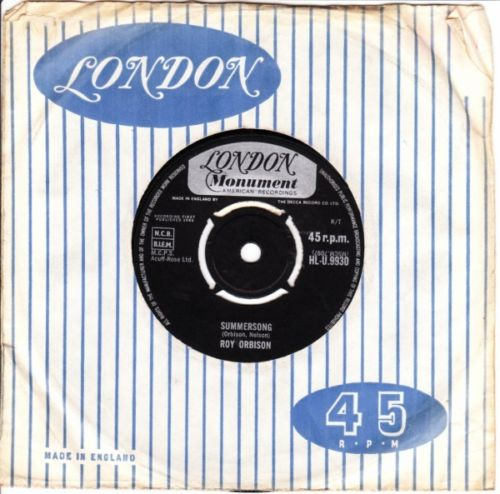 Roy Orbison - Summersong / Pretty Paper - LONDON 3075