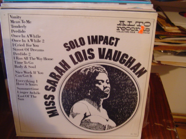 Sarah Lois Vaughan - Solo Impact - Alto Records - Sealed
