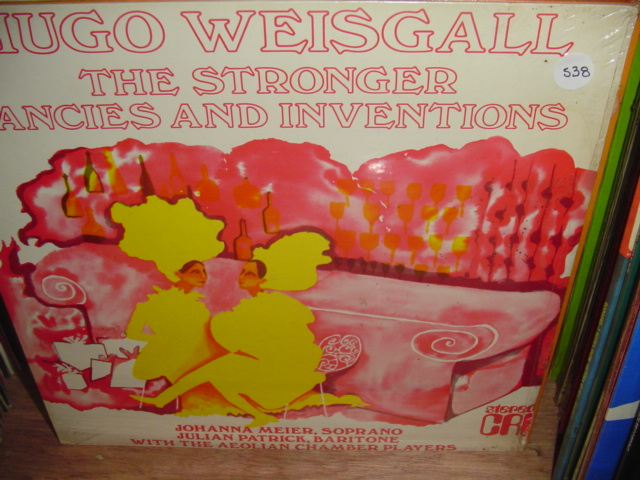 Hugo Weisgall ‎– The Stronger / Fancies And Inventions -