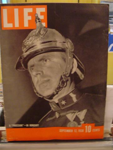 LIFE MAGAZINE - SEPTEMBER 12 1938 - PRUSSIAN IN HUNGARY