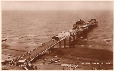 Shanklin Isle of White - The Pier - Real Photo