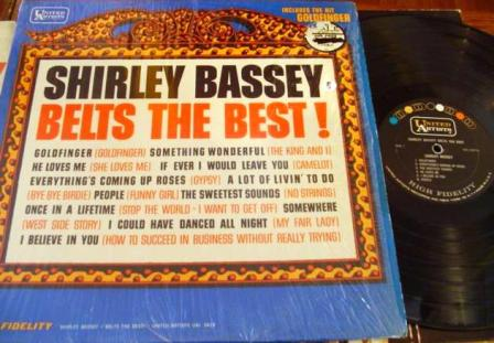 SHIRLEY BASSEY - BELTS THE BEST - UA 1965 - F 7