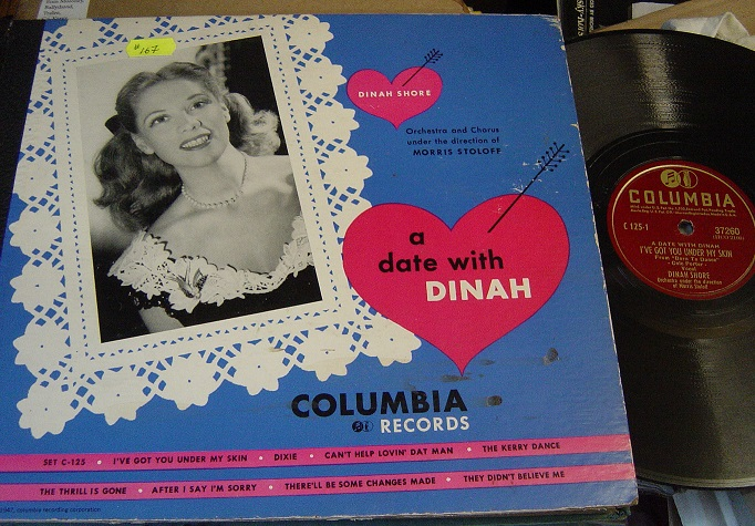 DINAH SHORE - A DATE WITH DINAH - COLUMBIA SET C 125